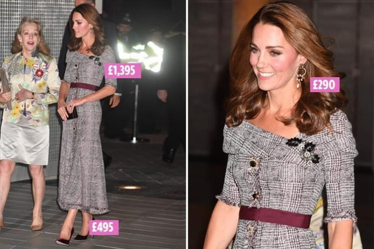 Kate Middleton wears plaid £1,295 Erdem dress and £495 Jimmy Choo heels as she opens new V&A photography centre