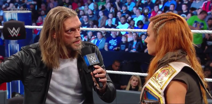SmackDown 1000: Edge returns to WWE sending crowd wild… but without wife Beth Phoenix