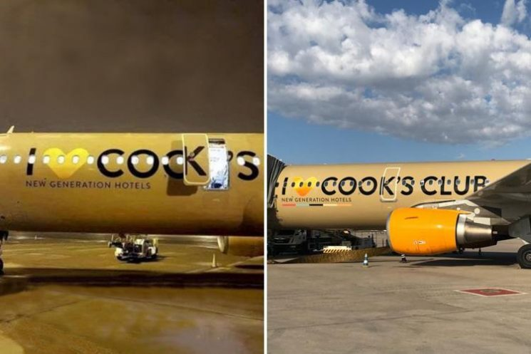 Thomas Cook paint gaffe leaves plane displaying very rude message along its side
