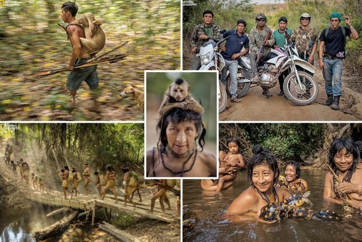Inside the Amazon's 'world's most endangered tribe' who bathe with turtles and and eat armadillos