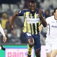Olympic Sprinter Usain Bolt Scores Two Goals In First Professional Soccer Start