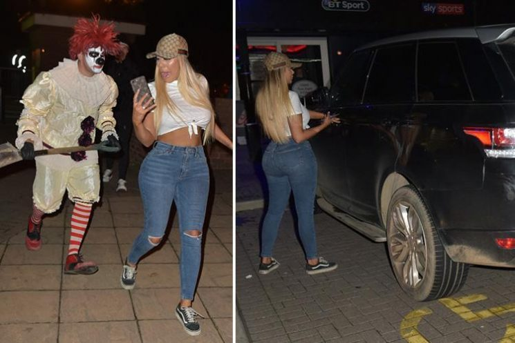 Chloe Ferry is chased by a CLOWN after parking in disabled bay outside Halloween attraction in Teeside