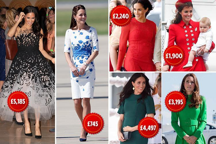 Why Meghan Markle's Royal Tour wardrobe could cost over DOUBLE the price of  Kate Middleton's - WSTale.com