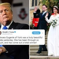 Donald Trump praises 'total winner' Princess Eugenie after wedding