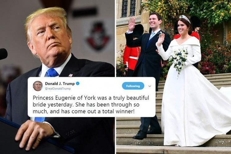 Donald Trump praises 'total winner' Princess Eugenie after wedding