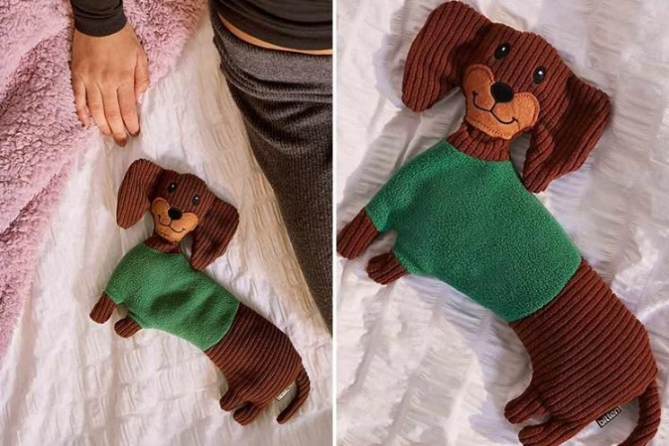 Urban Outfitters is selling sausage dog heating pads… and they're the ultimate Christmas stocking filler