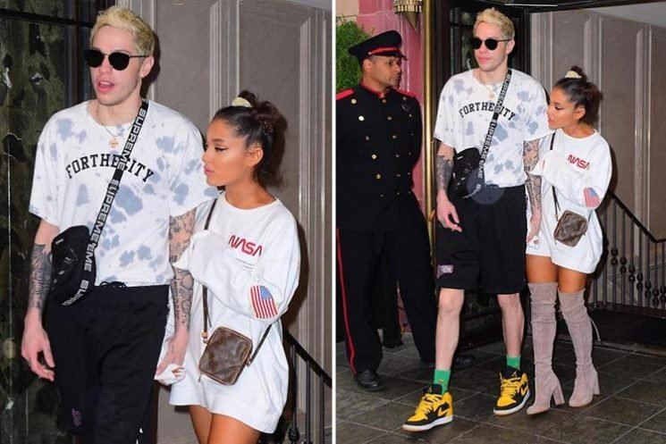 Ariana Grande clings on to Pete Davidson's arm in their final appearance together before split