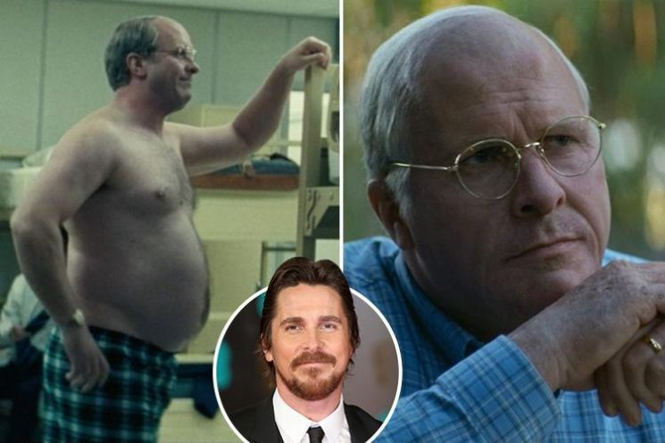 Christian Bale looks totally unrecognisable after gaining THREE STONE to play Vice President Dick Cheney