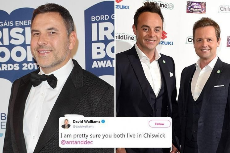 David Walliams continues his cheeky war of words with Ant and Dec as he mocks them for moving from Newcastle to London