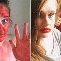 Mum left red-faced (quite literally) for two days when her daughter swaps face paint for lip stain
