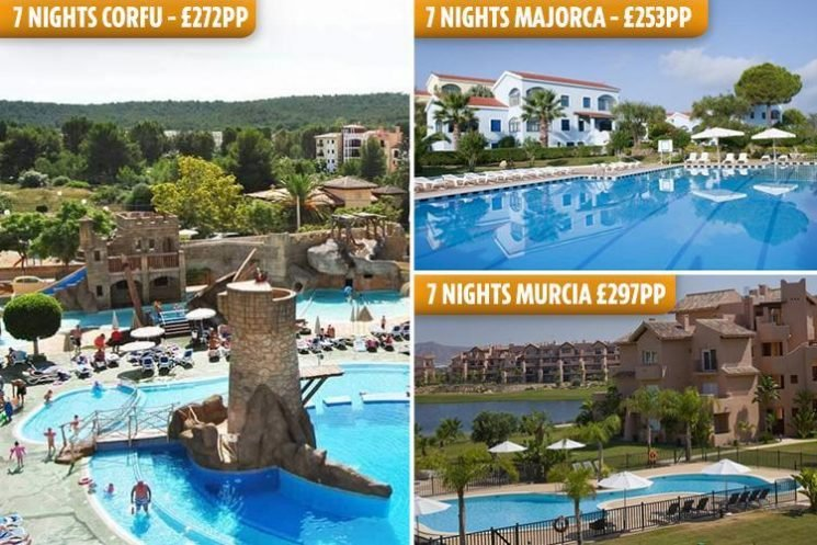 Grab a cheap last-minute half term holiday – with deals in Majorca, Corfu, Murcia and the Portuguese Riviera
