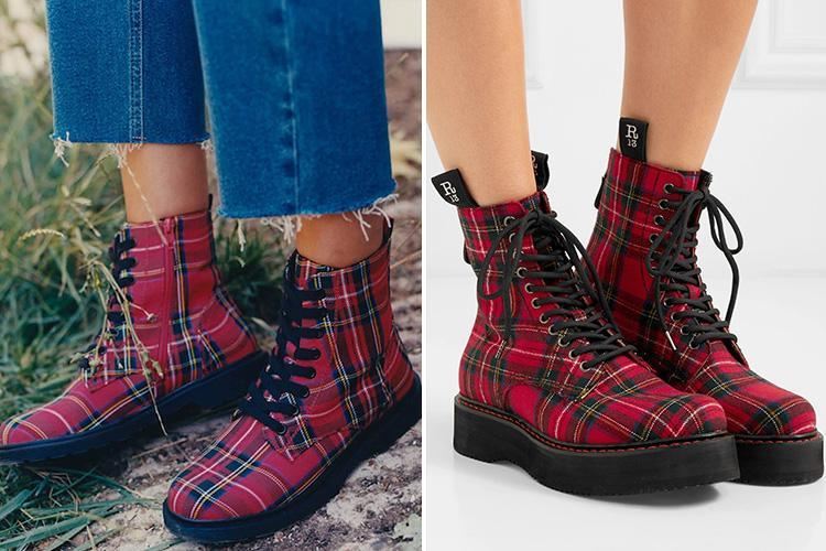 Primark is selling tartan boots for £16… and they are VERY similar to R13's £920 pair
