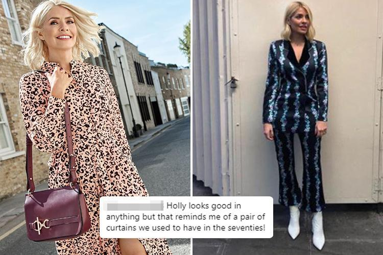 Holly Willoughby's floral suit is slammed by cruel trolls who claim it's 'horrendous' and that she should 'fire her stylist'