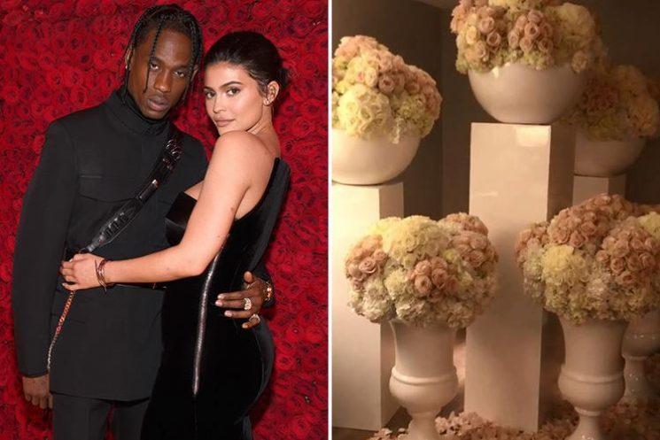 Kylie Jenner thanks 'hubby' Travis Scott for HUGE flower display
