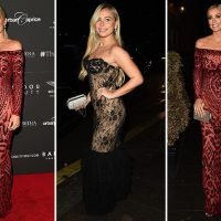 Laura Anderson and Ellie Brown ooze glamour as they rub shoulders with the stars at Day of Girl gala
