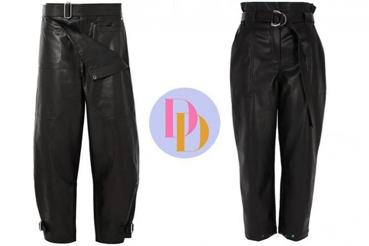 River Island is selling a pair of belted black leather trousers for £46 that looks just like JW Anderson's £1,500 designer version – can you tell the difference?
