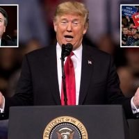 Donald Trump celebrates Brett Kavanaugh victory with supporters as judge elected to Supreme Court