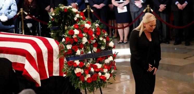Joe Biden Pens Tear-Jerking Tribute To Meghan McCain — 'There's John On That Podium'