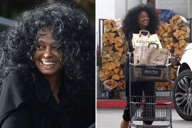 Diana Ross, 74, looks fresh-faced as she smiles on make-up free trip to the supermarket in Beverly Hills