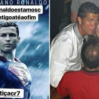 Cristiano Ronaldo's family break silence on rape claims as mum and sister compare him to SUPERMAN and try to make pic go viral