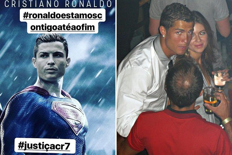 Cristiano Ronaldo's family break silence on rape claims as star's mum and sister compare him to SUPERMAN and try to make cape pic go viral