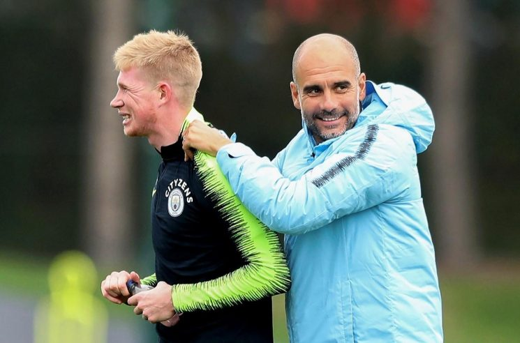 Manchester City boss Pep Guardiola confirms Kevin De Bruyne is in contention to start against Burnley after knee injury