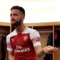 Inside Arsenal's dressing room after Leicester win as Shkodran Mustafi dances to Michael Jackson and Alex Iwobi make kind gesture to dad