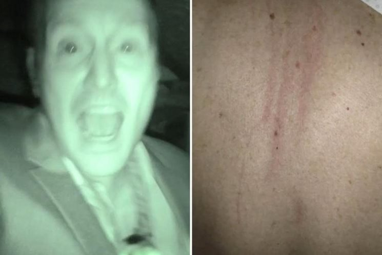 Dad left with red 'claw marks' down his back after he was 'attacked by the ghost of tortured soldier in Wigan prison'