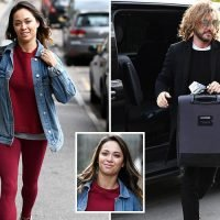 Katya Jones flashes a smile as she heads to rehearsals after being saved on Strictly again