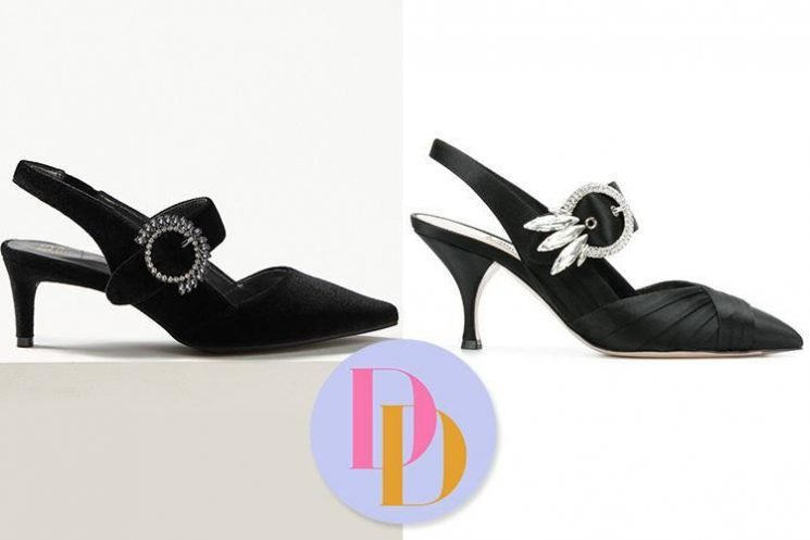Marks & Spencer is selling a pair of embellished heels for £39.50 and they look just like Miu Miu's £557 designer version – can you tell the difference?