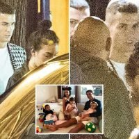 Cristiano Ronaldo and girlfriend Georgina Rodriguez pictured on Paris night out as couple share family photo amid 'rape' storm