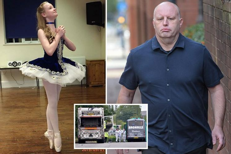 Bin lorry driver killed ballerina, 14, when he ploughed into a minibus on a school trip