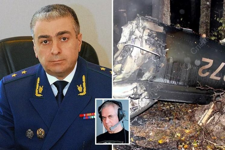 Pilot 'was shot' moments before helicopter crash that killed Vladimir Putin's top prosecutor who probed Skripal poisoning and Alexander Litvinenko's murder