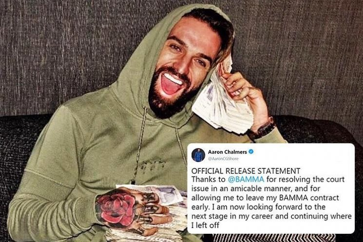 Geordie Shore star Aaron Chalmers quits Bamma contract as he continues MMA rise
