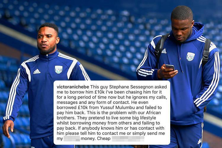 Victor Anichebe calls out former West Brom team-mate Stephane Sessegnon over apparent unpaid £10,000 debt