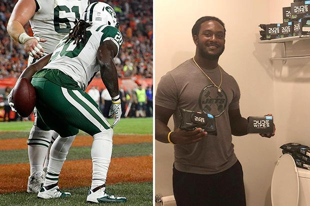 NFL star Isaiah Crowell fined for wiping bum celebration.. but is signed up to toilet wipe company to pay for fine