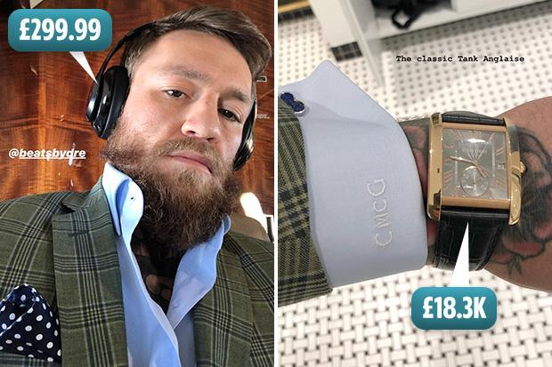 Conor McGregor starts spending his UFC 229 money as he shows off £18,300 Cartier Tank MC Watch and Beats By Dre headphones