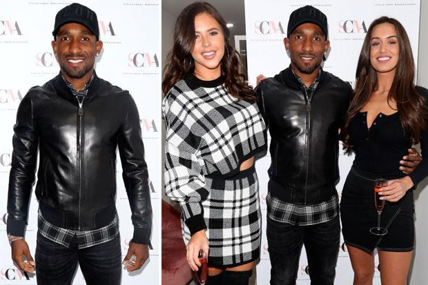 Jermain Defoe joins Towie stars at opening of sister's new Essex make-up academy