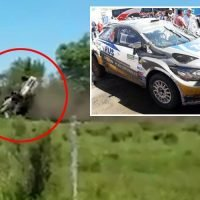 Tennis legend David Nalbandian involved in shock crash after rolling rally car