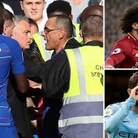 Premier League highlights: Man City and Liverpool march on while Chelsea vs Manchester United descends into chaos