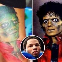Boxing star Gervonta Davis gets bizarre new Michael Jackson Thriller tattoo tribute on leg