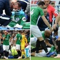 Brighton star Glenn Murray awake in hospital following sickening clash of heads with Newcastle's Federico Fernandez