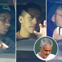 Manchester United arrive for training as Jose Mourinho begins hunt for squad leak mole