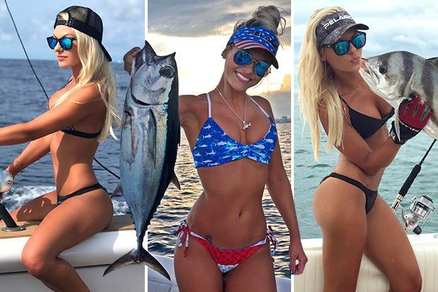 Meet the bikini-clad fishing bombshell on a mission to empower women to take up angling