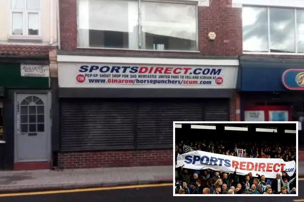 New 'Sports Direct' shop in Sunderland mocks 'horse punching' Newcastle fans who want to protest against Mike Ashley