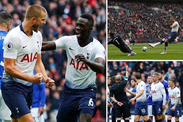 Tottenham 1 Cardiff 0: Eric Dier's first Premier League goal in 546 days leads Spurs to win over ten-man Bluebirds… with Harry Kane and Neil Warnock involved in furious row