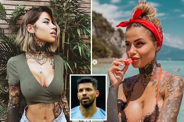 Meet the mystery woman with tattoos on her neck spotted with Sergio Aguero outside LA nightclub