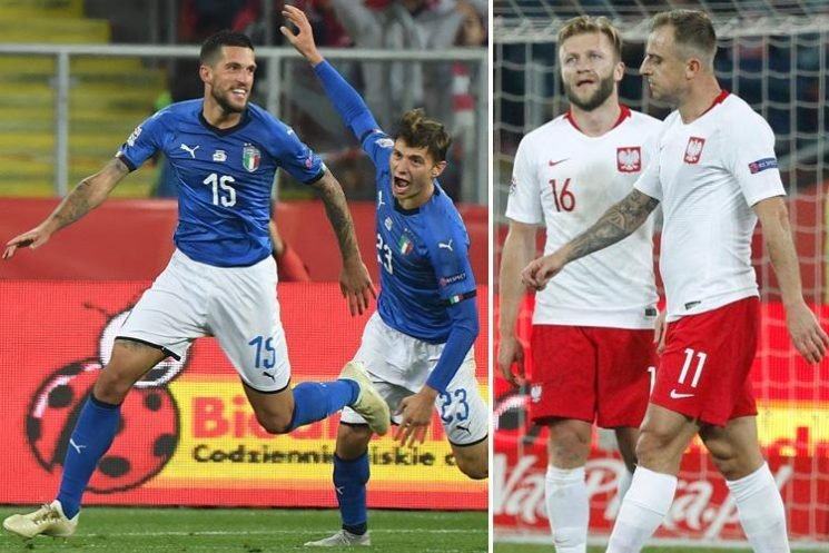 Poland 0 Italy 1: Cristiano Biraghi heads in last-minute winner as Azzurri relegate Poles in Nations League clash