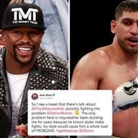 Amir Khan claims Floyd Mayweather has been 'ducking me for years' and that his 'style would cause him load of problems' in astonishing rant