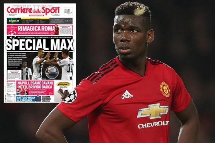 Manchester United star Paul Pogba slammed by Italian press after flopping against old club Juventus